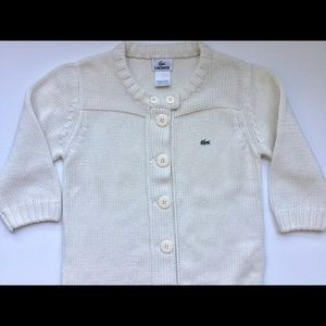 Lacoste chunky cream knit cardigan